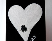Hand Painted Greeting Card Any Occasion - Sparkles & Love