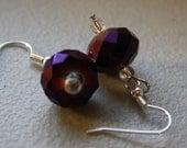 Sparkle Purple Earrings