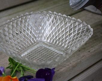 Diamond Cut Glass Dish