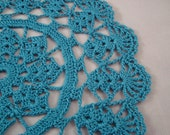 Crochet napperon coquillage Turquoise Sarcelle