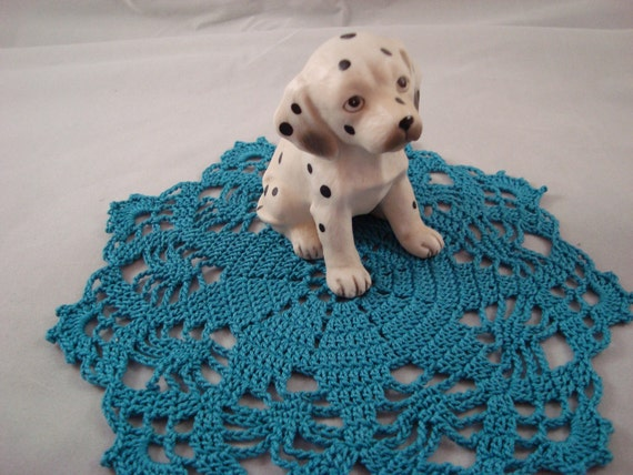 Crochet Teal Turquoise Star Doily