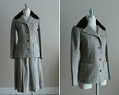 Vintage 1970s Suit Nina Ricci Boutique Tweed and Fur