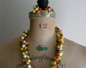 Vintage 1950s 1960s Fruit Salad Necklace and Earring Set