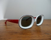 Vintage 1960s Mod Sunglasses Red White and Blue