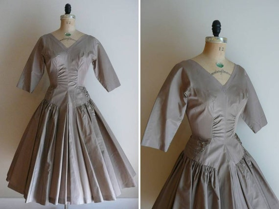 Vintage 1950s Morning Dove R and K Originals Party Dress