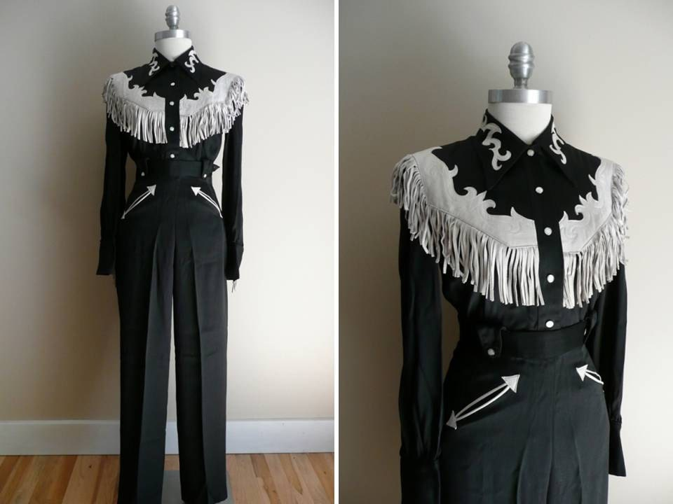 Reserved for wonkie // Vintage 1940s 1950s Black Rodeo