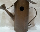Galvanized Metal Bird House, Water Can Shaped, Vintage, Rustic Country Charm