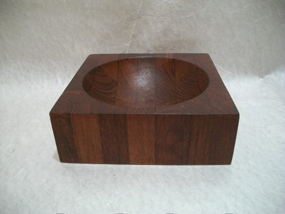 Vintage Siamese Teak Bowl, Ernest Sohn, Mortar and Pestle, Unique Item,