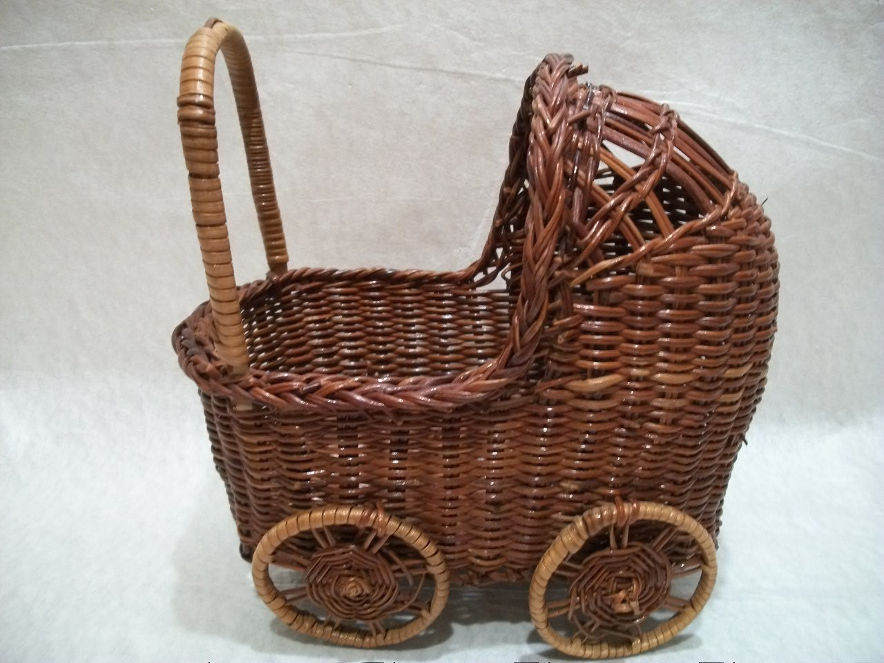 Wicker Baby Buggy Basket Baby Shower Gift Basket Baby Doll