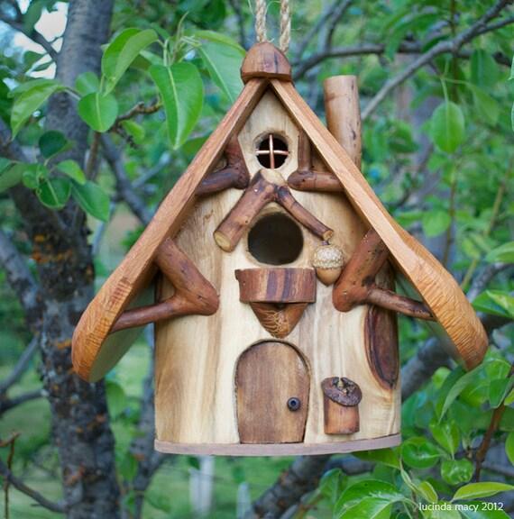 Natural Songbird House made of Aspen and Cedar
