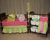Neon Memories Nursery Bedding for a Baby Girl