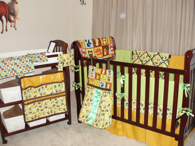 100 Woodland Creatures Nursery Bedding Baby