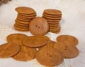10 XXL Handmade Wooden Buttons, Oak, 2,2 inch in diameter