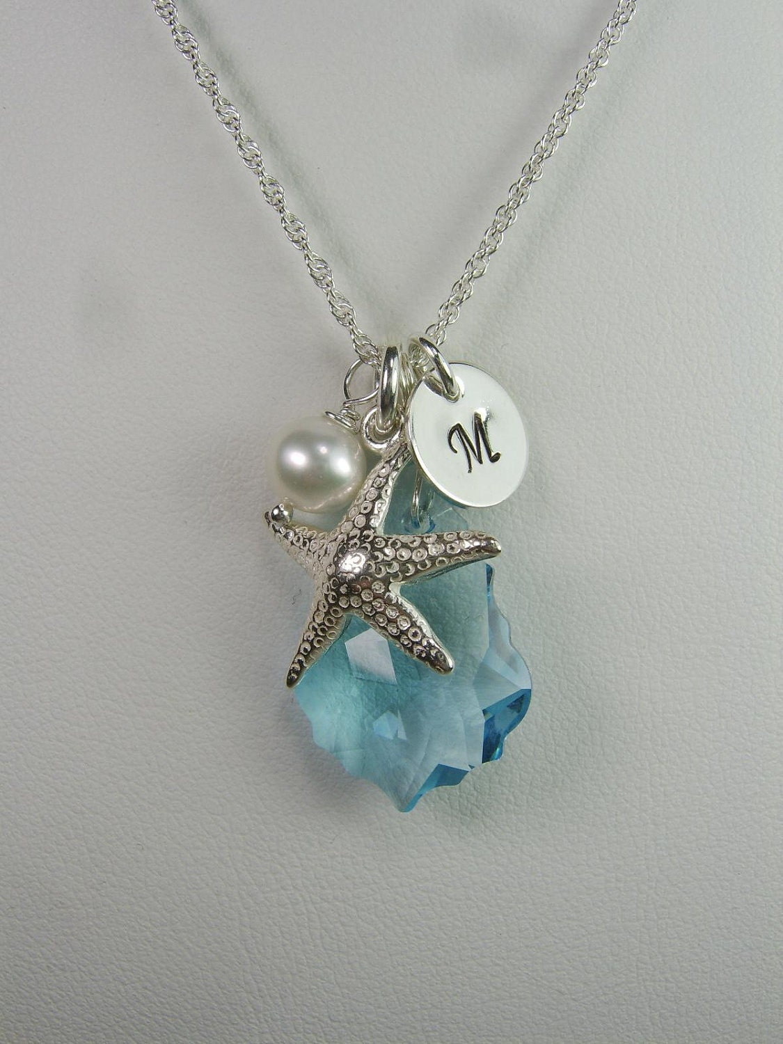 beach bridesmaid jewelry set of 4 starfish bridesmaid necklace