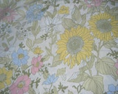 vintage floral flat sheet/ fabric