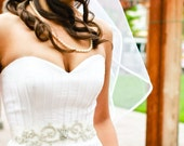 Beaded Crystal Bridal Sash