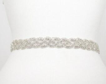 Braided belt,Bridal accessories,beaded belt,wedding belt,bridal sash,wedding sash,Vintage wedding,dress belt,rhinestone belt,bridal belt,