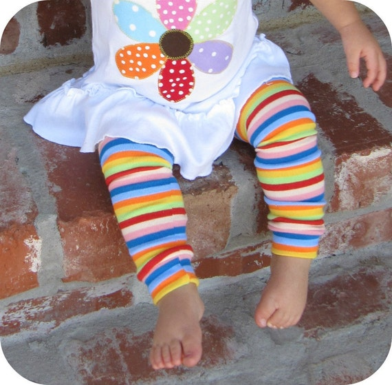 Summertime Fun Striped Leg Warmers