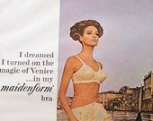 Vintage Print Ad Classic Maidenform Bra 60s Glamour Magazine 1966