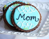 """5 Lovely Chocolate Sugar Cookies  (4.5"""" in size)"""