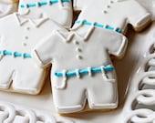 A Dozen Cute Little Boy Christening Outfit Vanilla Sugar Cookies