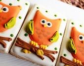 A Dozen Personalized Owl Vanilla Sugar Cookies