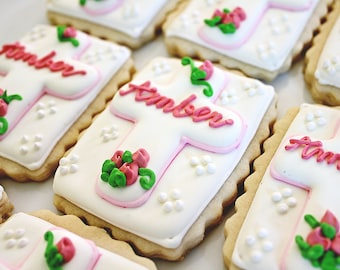 A Dozen Personalized Cross Sugar Cookies