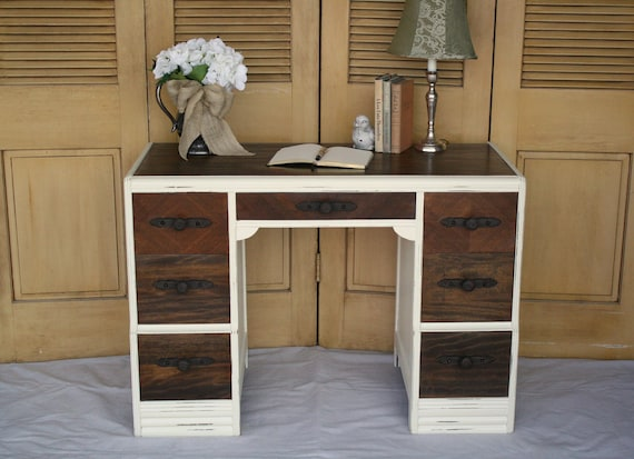 Antique 7 Drawer Farmhouse Desk