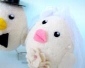 The Wedding Tweet Couple - Wool Felted Birds