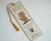 Funny Dog Bookmark Cocker Spaniel Dog Bookmark Gift for Dog Lovers Laminated with tassel