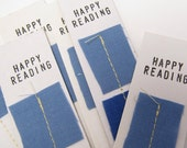 Kids Party Favor Set of 8 Bookmarks - Periwinkle Blue, Sapphire and White