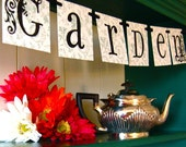I (Love) My Garden Banner Sign Garland Decoration