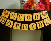 Good Morning Banner Sign Garland Decoration