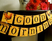 Good Morning Banner Sign Garland Decoration