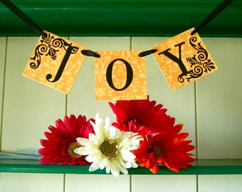 JOY  Banner Sign Garland Decoration