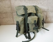 60s RUCKSACK olive green faded BACKPACK army issue