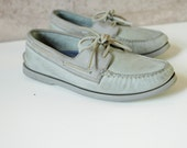 men's Size 9 1/2 grey TOPSIDER sperry SAILING boat DECK shoes