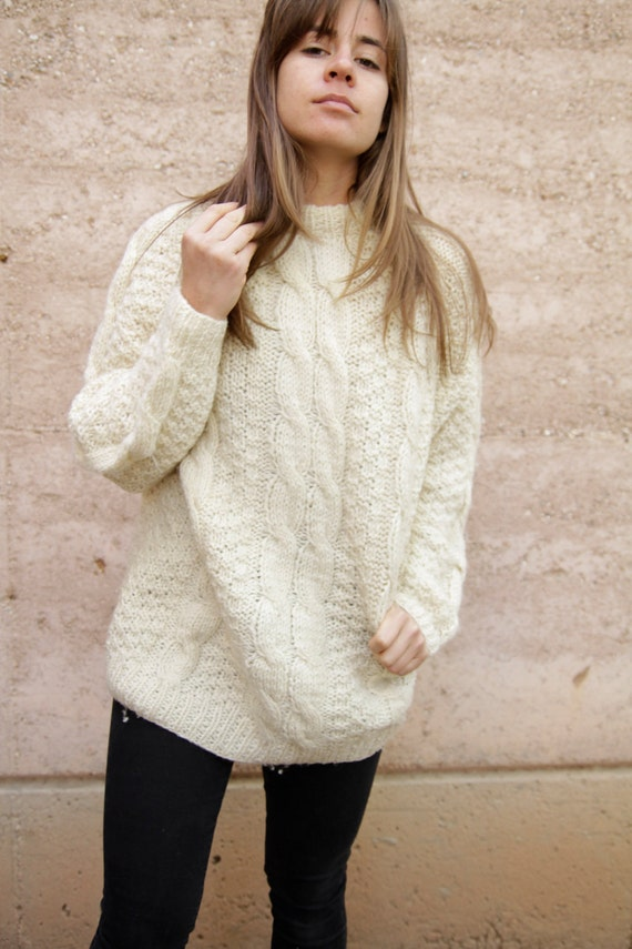 Oversized Cable Knit Sweater Women Re Re - Oversized Cable Knit Sweater Women
