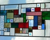 Stained Glass Window Panel - Geometric Color