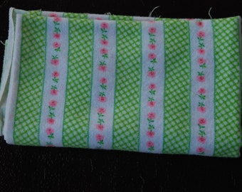 Vintage Flannel Fabric 23x40 inches