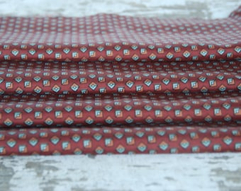 Vintage Brown Silky Polyester Fabric 1980s 2 1/2 yards