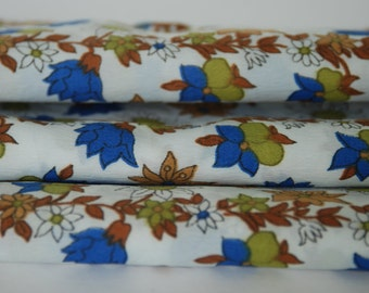 Floral Fabric Earth Tones 1 yard and 25 inches