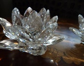 Swarovski Waterlily Crystal Candle Holders