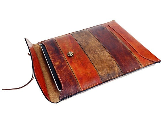Hand Dyed Leather Case for Ipad - Ipad 2 - Xoom - Tablets