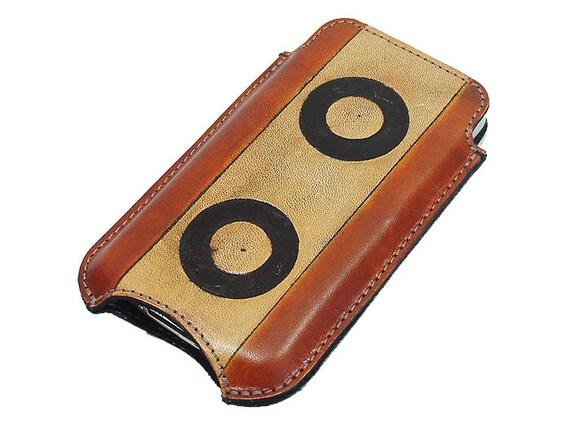 Slim Cell Phone Leather Sleeve - Oreo