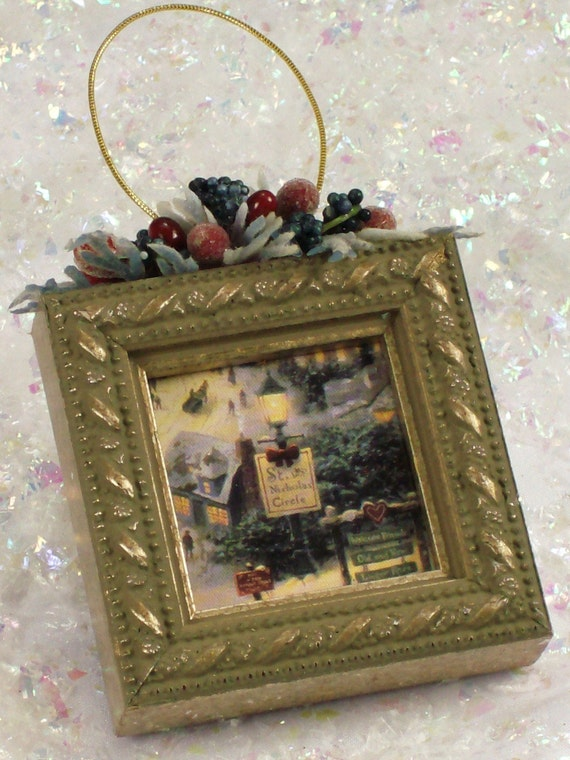 Christmas Tree Ornaments Picture Frames : Picture frame christmas tree ornament d by