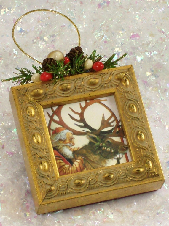 Items similar to Christmas Tree Picture Frame Ornament EE ...