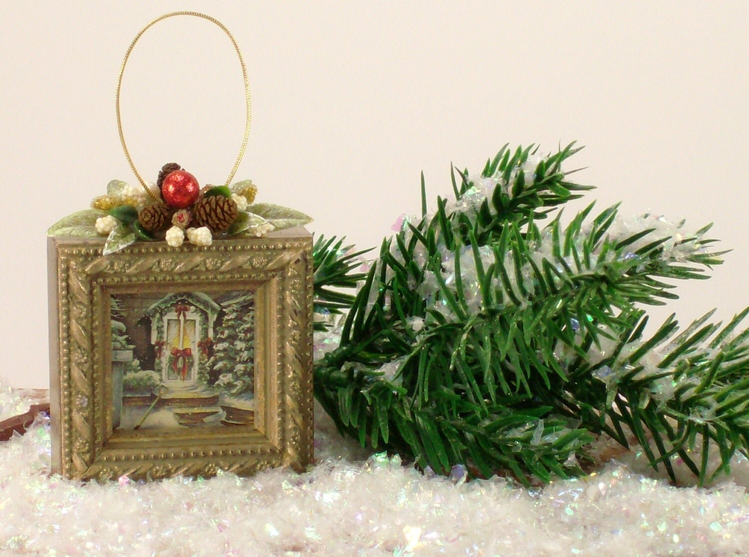 Christmas Tree Ornaments Picture Frames : Picture frame christmas tree ornament cc by