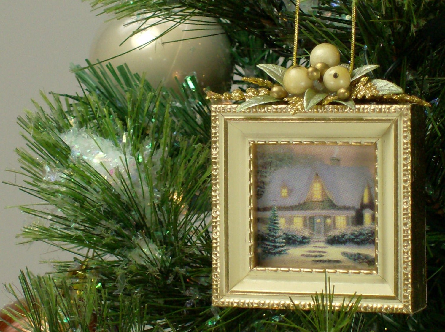 Christmas Tree Ornaments Picture Frames : Picture frame christmas tree ornament dd by