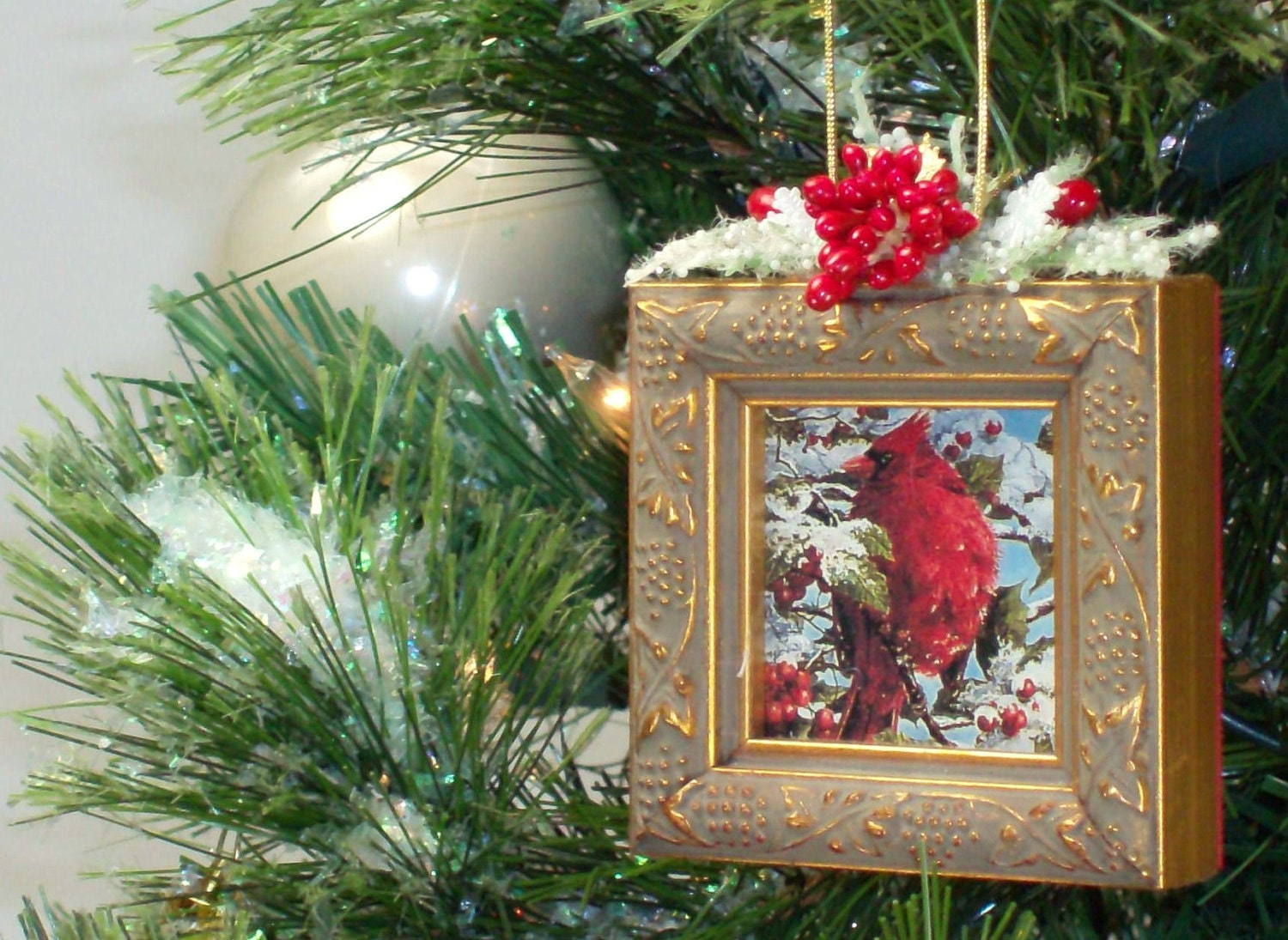 Christmas Tree Ornaments Picture Frames : Picture frame christmas tree ornament jj by
